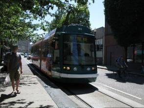 Street car, downtown