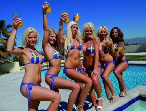 "One of the most ubiquitous stereotypes of nationalities is that of ""hot"" Swedish women--perpetuated by photos like this one."