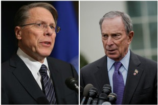 Wayne LaPierre went head to head with Michael Bloomberg on the talk shows.