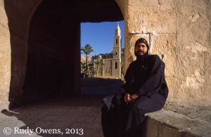 Father Tawdros at St. Anthony's Monastery in Egypt, taken in 2004.