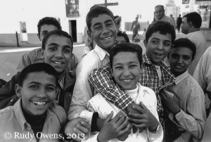 Coptic Christians, like the young men seen here from my 2004 photo, are a persecuted minority in Egypt.