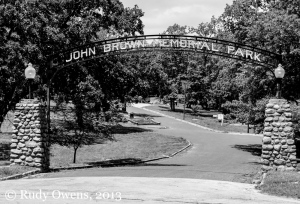 Entrance to John Brown Memorial Park in Ossawatomie, Kan.