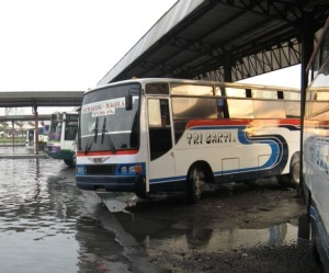 Buses like these are cheap in Indonesia, but your life can be as some locals would say, insha-Allah, or at the mercy of God.