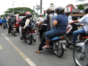 Indonesians who use these highly efficient and inexpensive 100-125cc motor scooters are frequently killed on the island nation's infamously unsafe and crowded roads.