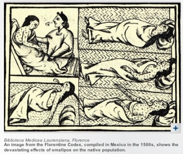 Smallpox helped the Spanish invaders conquer the Aztecs in the 1500s; nearly 3 million persons were killed.