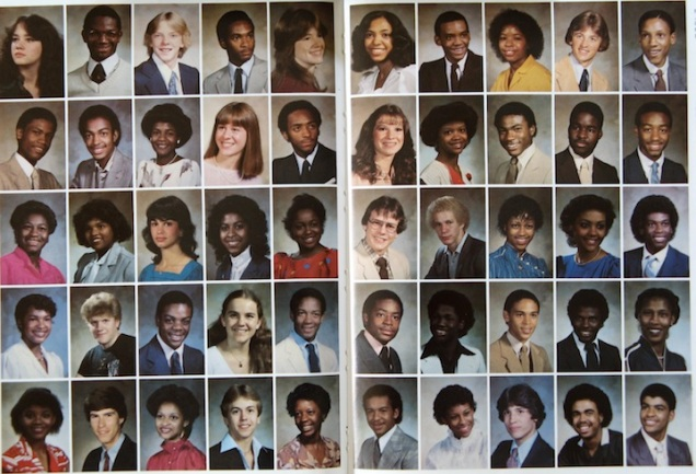 A seen from my graduating class of 1983 from University City Senior High School--yes I'm in there, bad hair and all.