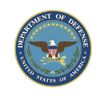 The seal of the U.S. Department of Defense, representing seven branches of the U.S. military.