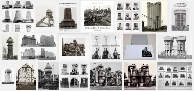 "Screen snapshot of the Bechers' many typologies and series, taken from Google's ""image"" tool."