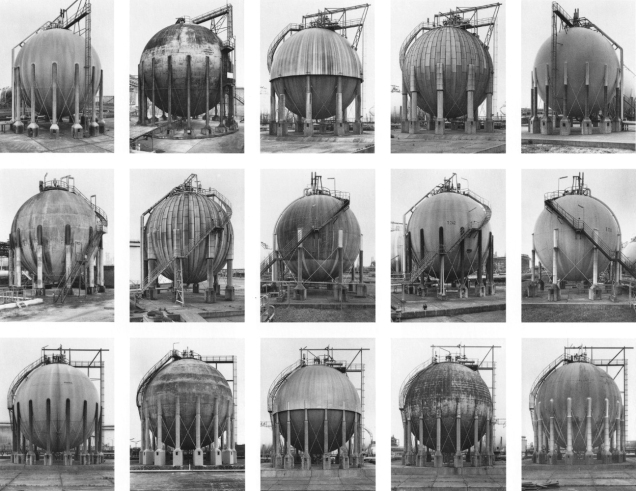 Bernd and Hilla Becher, Gas Tanks.
