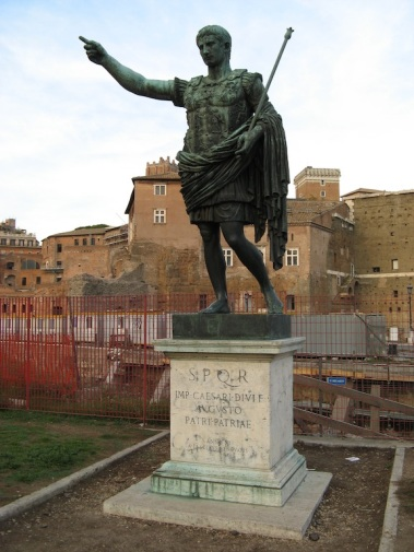 A statue of Julius Caesar in Rome (taken in 2006). Like Caesar, Greene also had to cross his Rubicon to achieve mastery and success.