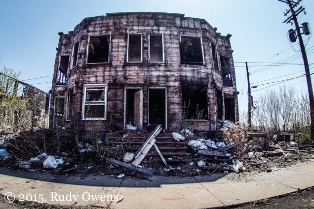 Burned home Detroit Photo