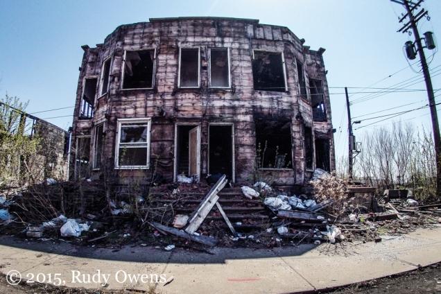 Burned home Detroit Photo