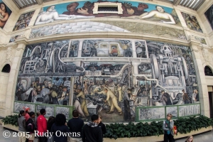 Diego Rivera Mural, at the DIA