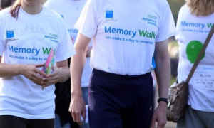 Alzheimer's groups now organize walking events to raise awareness; they should also try to promote walking as one of the best forms of intervention for everyone.