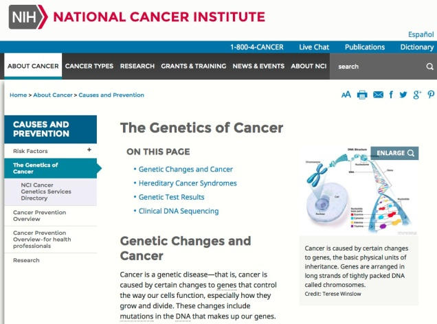 The National Institutes of Health highlights why every person needs to know their family history--it can be a matter of life and death with cancer.