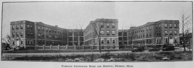 Florence Crittenton Home and Hospital Detroit, 1932. Source: Fifty Years' Work with Girls, 1883-1933: A Story of the Florence Crittenton Homes